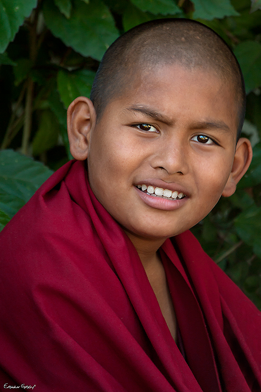 Young Monk at Drepung Monastery